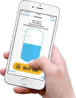 Smart Oil Gauge App With Hand